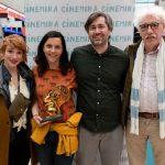 Kerekes Vica, Lakos Nóra, Erik Tijman (Cinekid Festival Amsterdam), Felix Vanginderhuysen (ECFA). Fotó: Varga Gábor Vargosz